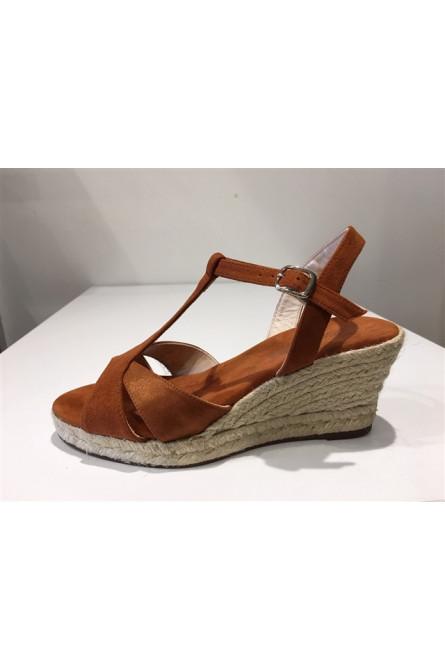 sandales escadrille cognac