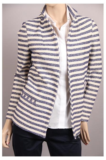 blazer kocca rayure blanc/bleu