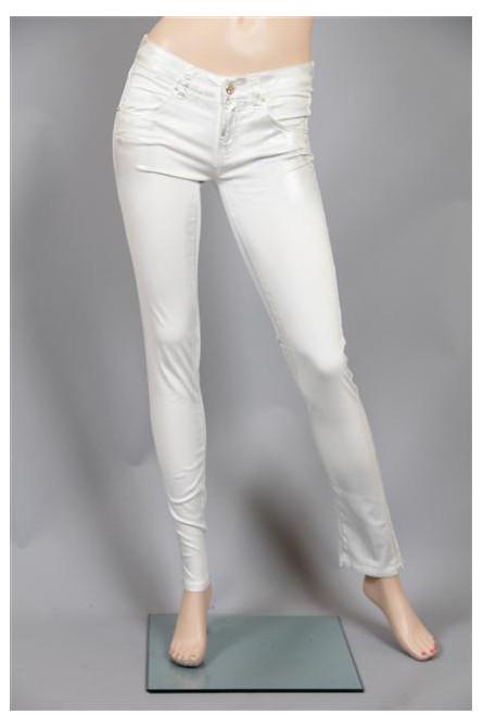 pantalon femme met blanc