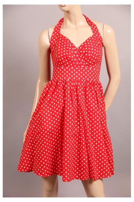 robe molly bracken pois rouge/blanc