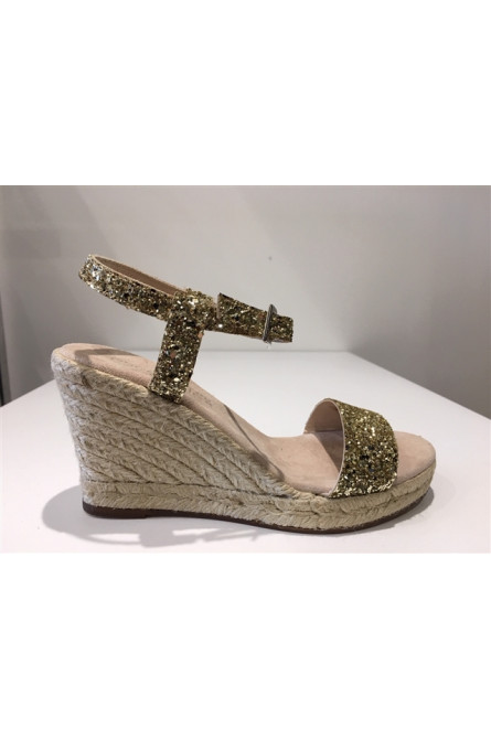 sandales escadrille doré