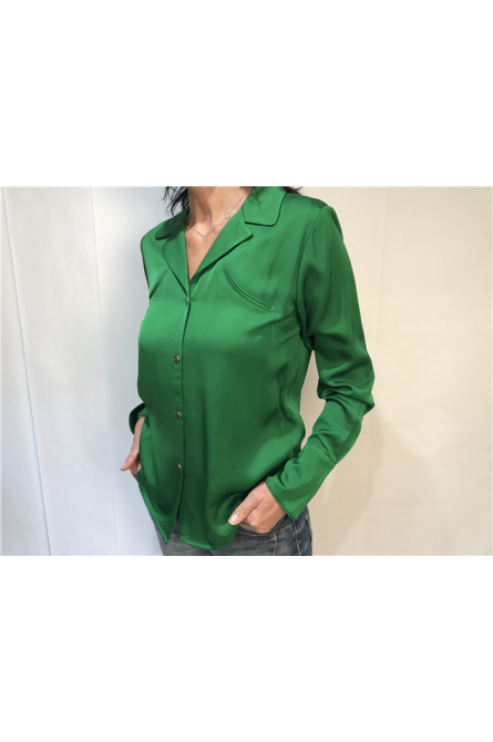 chemise maison scotch vert