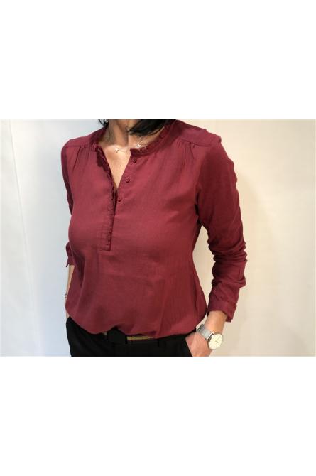 blouse indi & cold bordeaux