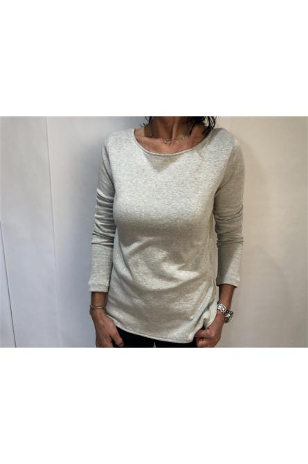 t-shirt majestic gris