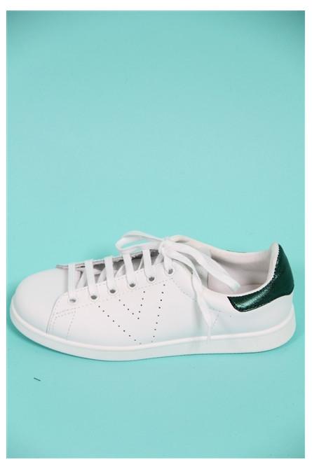 basket victoria blanc/vert
