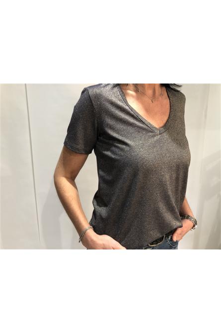 t-shirt please doré/marine