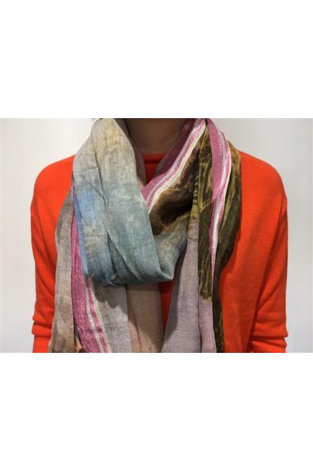 foulard becksondergaard mauve/bleu