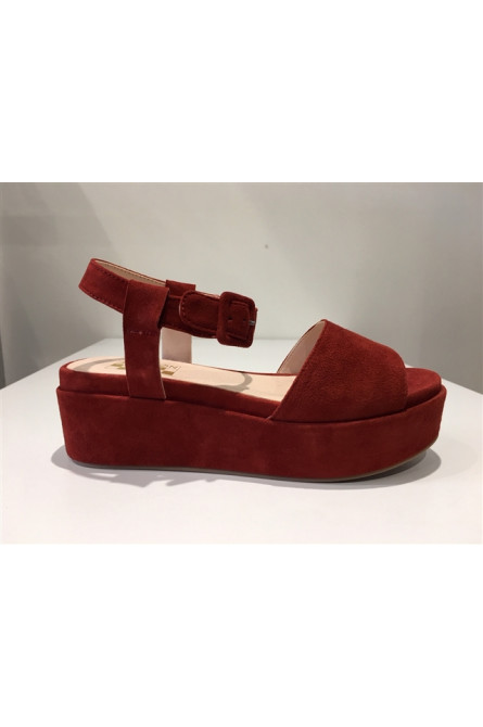 sandales no name carmin