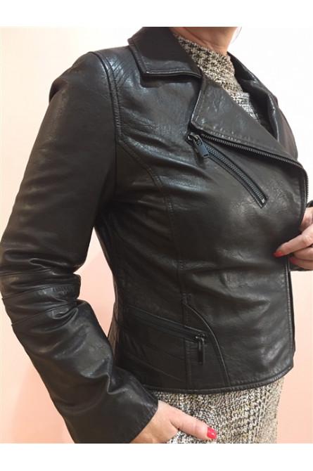 blouson cuir giorgio noir