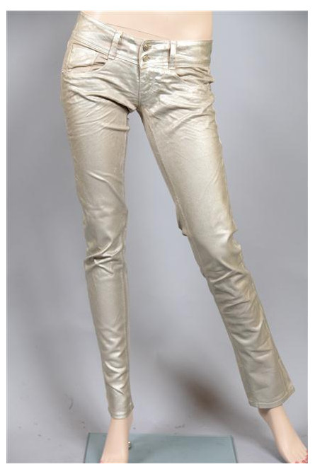 pantalon met beige métal
