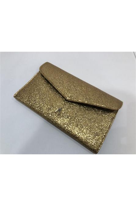 porte-feuille craie doré/vert