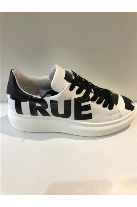 baskets méliné blanc/noir