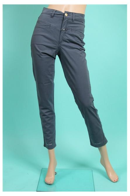 pantalon pedal pusher closed bleu gris