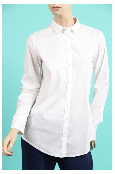 chemise closed bleanc