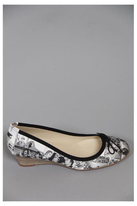 sandales à talons menport noir/blanc