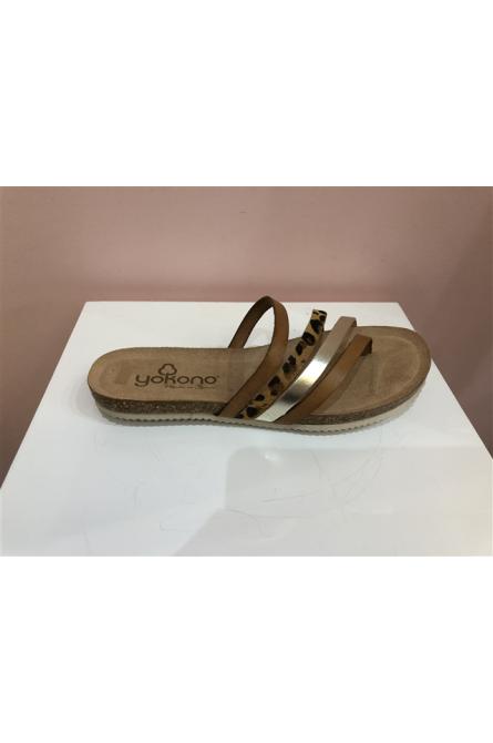 sandales yokono platine/leopard