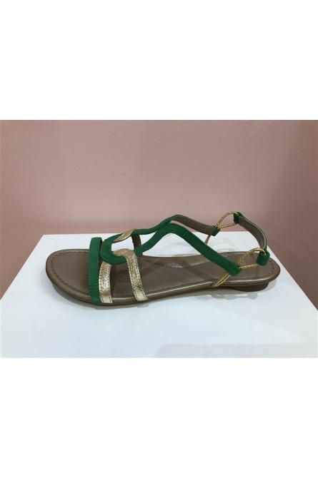 sandales sms vert/doré