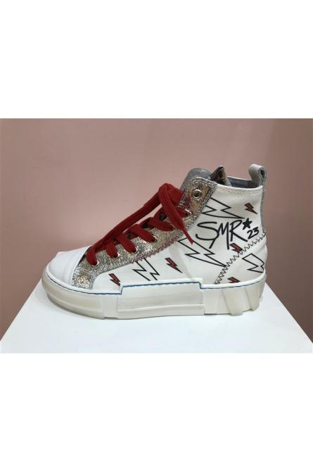sneakers semerdjian blanc/doré