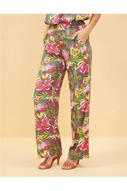 pantalon  la fiancée du mékong imprimé floral