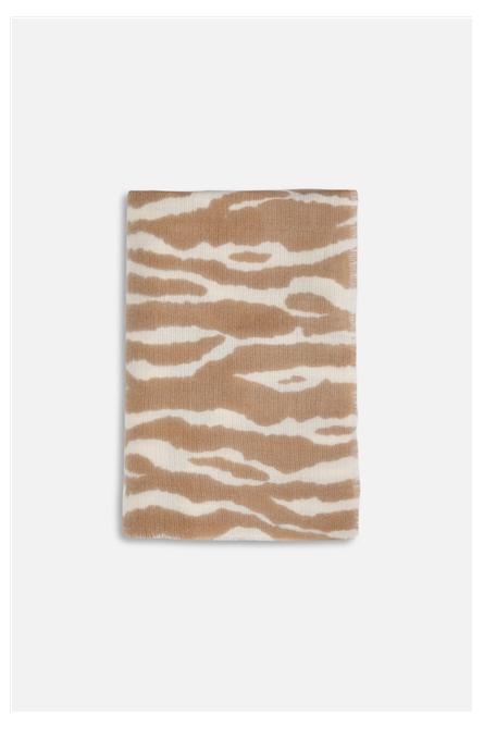 foulard rino pelle zebré naturel