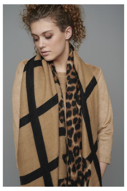 foulard rino pelle leopard
