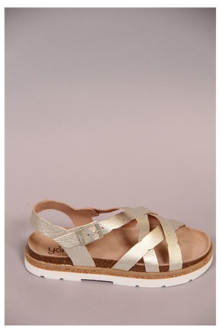 sandales yokono platine